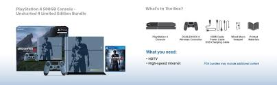 black friday 2017 ps4 bundles amazon amazon com playstation 4 500gb console uncharted 4 limited