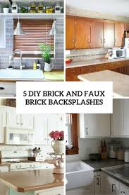 kitchen faux brick backsplash in kitchen uk kitchen design with