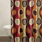 City Scene Bedding Retro Radar Red Shower Curtain Shower Curtains