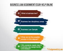 Business Law Assignment  amp  Essay Help for Law Students Business Law Assignment Essay Help Online Free Essays and Papers