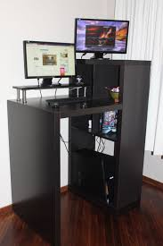 Office Furniture Ikea Workspace Cool Home Office With Ikea Expedit Desk For Your