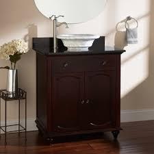 Bathroom Vanity Vessel Design Element Wellington  Inch Double - Black bathroom vanity with vessel sink