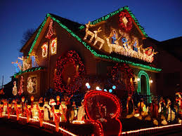 christmas decorated houses home design