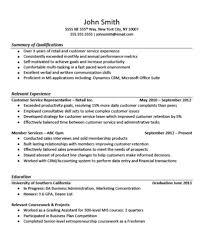 sales resume example no experience