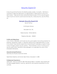Officer Resume Sample Security Officer Resume Resume For Your Job Application