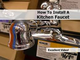 Replacing Kitchen Faucet Installing A Kitchen Faucet Moen Kitchen Faucet Room Cost To