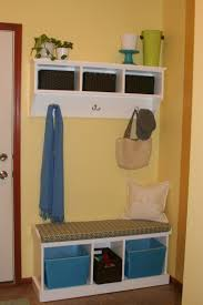 Storage Bench With Hooks by Furniture Mudroom Entryway Bench With Shelf And Coar Rack With