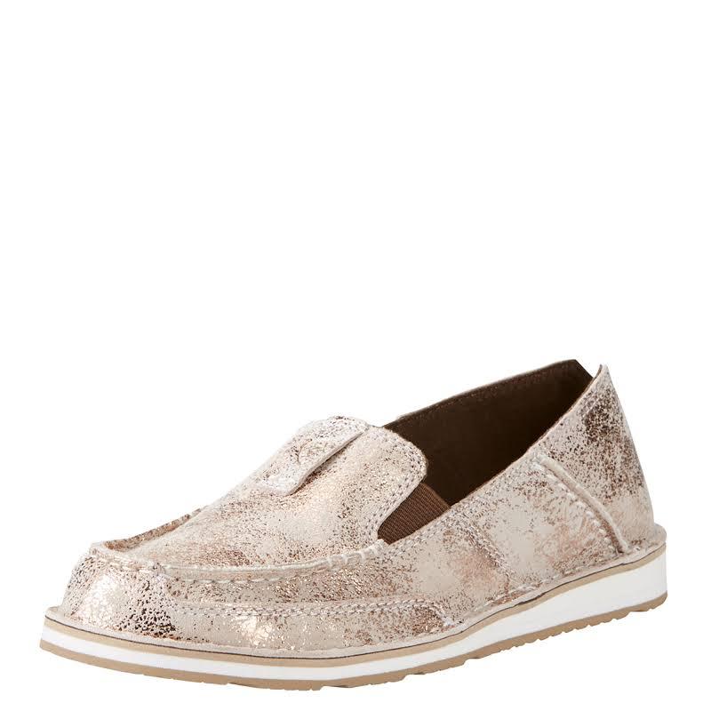Ariat Ladies Cruiser Golden Pink Metallic Slip-On Shoes 10019893
