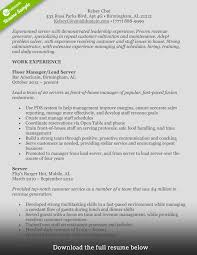 Customer Service Resume Skills How To Write A Perfect Food Service Resume Examples Included