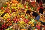 Fruit Stall in Barcelona Market Wallpaper