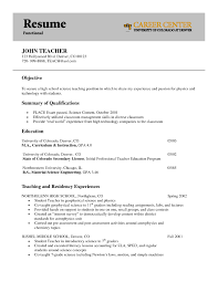 Qualifications Resume Example by Best Career Center Art Teacher Functional Resume Example Of