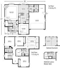 Sunroom Floor Plans by Architecture Two Story House Building Plan With Optional Sunroom