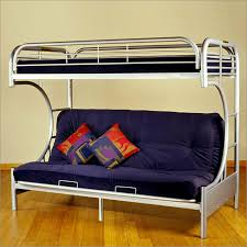 twin over futon metal frame bunk bed in silver by futonz to go 8225