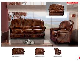 monica full leather leather classic 3 pcs sets living room furniture