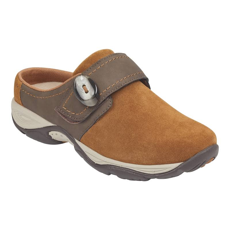 Easy Spirit Equip Suede Mules Clogs Brown 10 Medium (B,M)