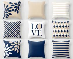 navy throw pillows pillow covers cushion cover home decor mix