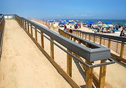 Handicap Access   Town of Bethany Beach  DE   Official Website Handicap crossovers to access the beach are located on Wellington Parkway and Ocean View Parkway