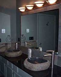 modern bathroom mirror lighting black porcelain futuristic shower