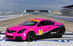 nissan altima coupe black crg nissan altima coupe takes part in continental tire sportscar