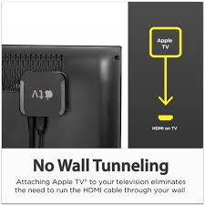 Hidden Cable Tv Wall Mount Amazon Com Totalmount Apple Tv Mount Compatible With 2nd And 3rd