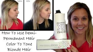 Best Hair Colors For Cool Skin Tones How To Use Demi Permanent Hair Color To Tone Blonde Hair Hair