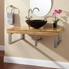 Bathroom Bowl Sinks Bathroom Impressive Dresser Repurposed Into - Black bathroom vanity with vessel sink