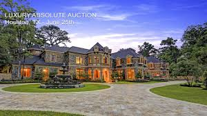 luxury houston texas mansion for sale by absolute auction youtube