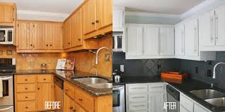 endearing painted white kitchen cabinets before and after updating