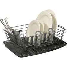 Plastic Dish Drying Rack Rubbermaid Large Drainer With Loft Cashmere Colored Walmart Com