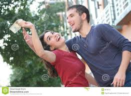 young couple fighting arguing over money royalty free stock photo