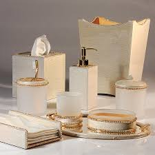 White Bathroom Accessories Set by Gold Bathroom Accessories Sets For The Home Pinterest Gold