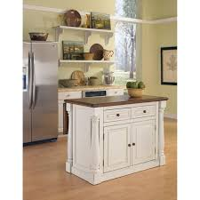 Antiqued Kitchen Cabinets by Monarch Antique White Sanded Distressed Kitchen Island Home Styles