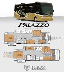 thor motor coach to launch floorplan duo for palazzo diesel pushers