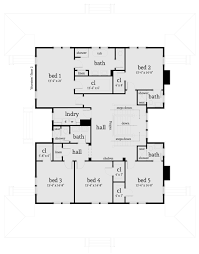 House Plans 5 Bedrooms Farmhouse Style House Plan 5 Beds 4 50 Baths 4742 Sq Ft Plan 64 248