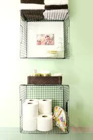 try this hanging baskets for bathroom storage u2013 a beautiful mess