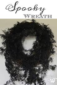 spooky wreath country design style