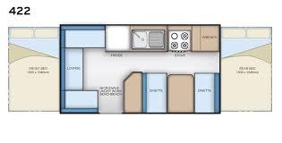 Caravan Floor Plan Layouts Bendigo Caravan Centre Coromal Navigator 422