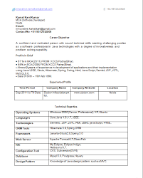 objective resume software engineer to sample resume for fresher