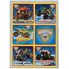 monster truck show missouri monster jam 3d sticker sheet 1 birthdayexpress com