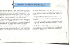1963 comet owners manual mercury automobile history u2013 super marauder