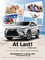 lexus suv with third row lexus rx l latest luxury suv information from sheehy lexus of
