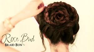 how to do a rose bud braid bun cute hairstyles for medium long