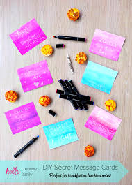 diy secret message notecards perfect for breakfast or lunchbox