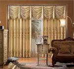 Living Room. Mid Century Living Room Curtains Ideas With Ruffles ...