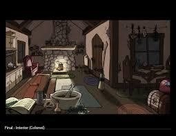 artstation background design u0026 layout forest cottage