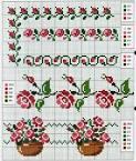 Χειροτεχνήματα: Λουλούδια σταυροβελονιά (cross stitch flowers ...