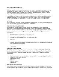 Making My Resume How Should I Write My Resume How To Write My