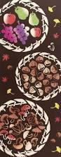 Mushroom Home Decor Japanese Tenugui Towel Cotton Fabric Delicious Autumn Food
