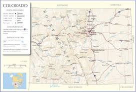 Usa States And Capitals Map by Colorado Map Colorado State Map Colorado Road Map Map Of Colorado