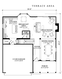 amazing square house plans large open terrace two cars garage